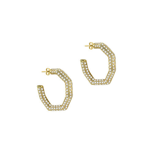 THE SINGLE SIDED PAVE LULU HOOPS