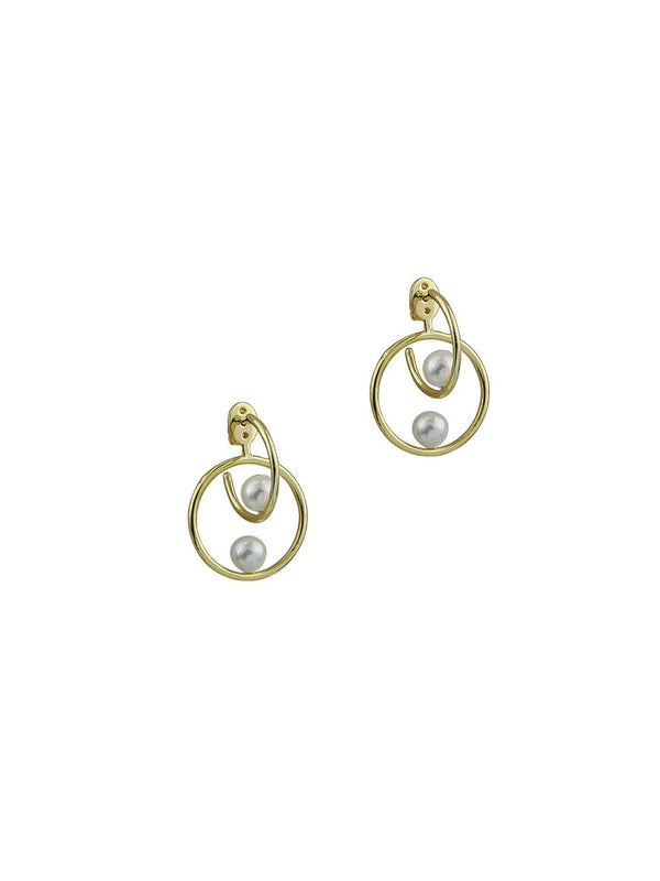 THE DOUBLE PEARL CIRCLE HOOPS