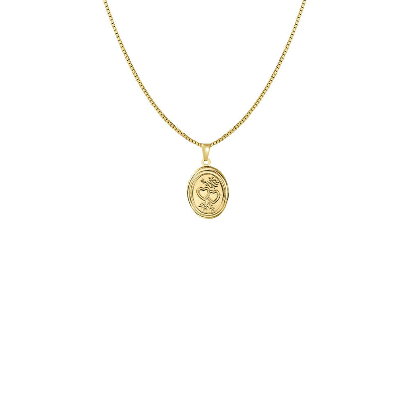 THE BELLA OVAL LOCKET NECKLACE