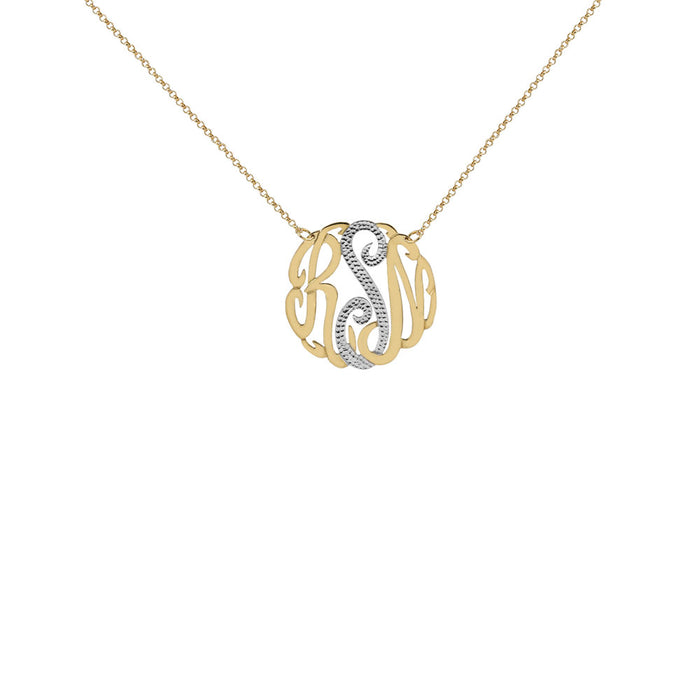 THE MONOGRAM TWO TONE CUT NECKLACE