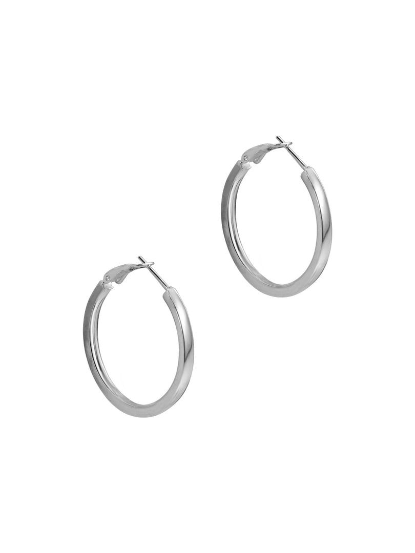THE MARA SILVER HOOP EARRINGS