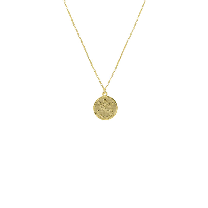THE ZODIAC MEDAL NECKLACE