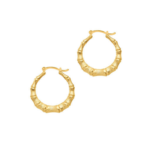 THE BAMBOO HOOP EARRING