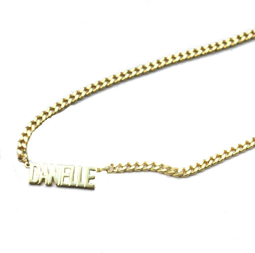 THE MINI CHOKER NAMEPLATE NECKLACE