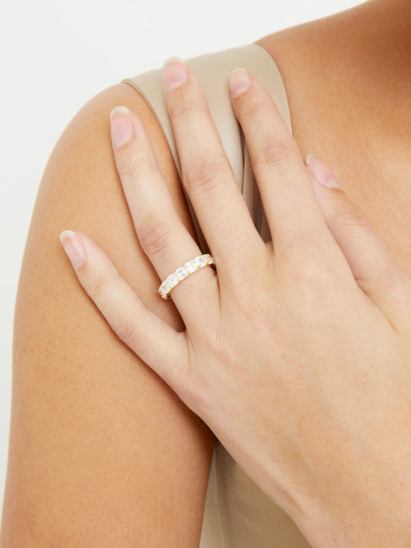 THE CUSHION CUT ETERNITY BAND