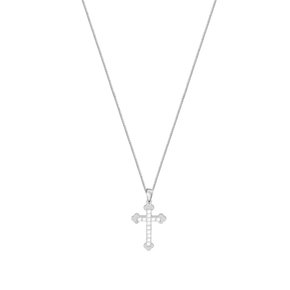 THE SMALL DIAMOND CROSS NECKLACE