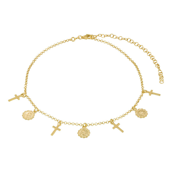 THE POMPEII CROSS CHOKER NECKLACE