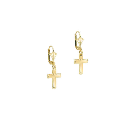 THE REIMS CROSS EARRINGS