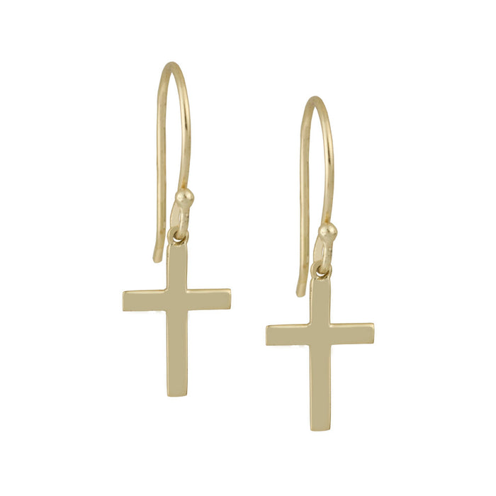 THE HANGING CROSS EARRINGS