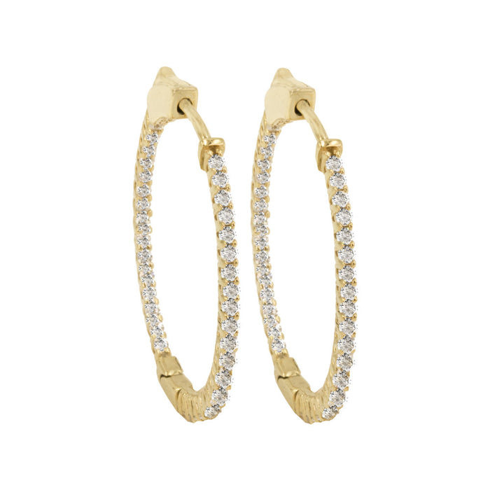 THE SMALL OVAL PAVE' HOOPS