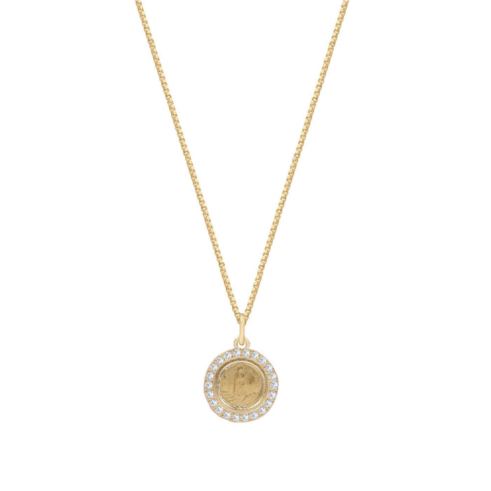 THE FATIMA COIN PENDANT NECKLACE (PAVE')