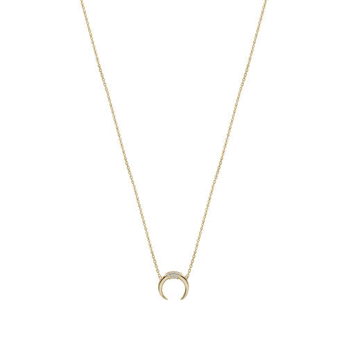 THE PAVE HORN NECKLACE
