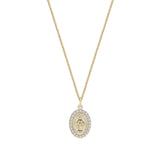 THE OVAL MARY PENDANT NECKLACE (PAVE')