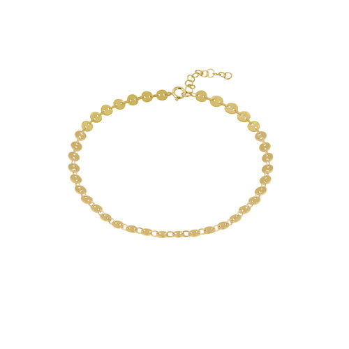 THE DAINTY DISC ANKLET
