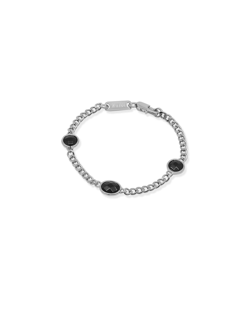 THE ELLEN SILVER ONYX BRACELET (ALEXANDER ROTH X THE M JEWELERS)