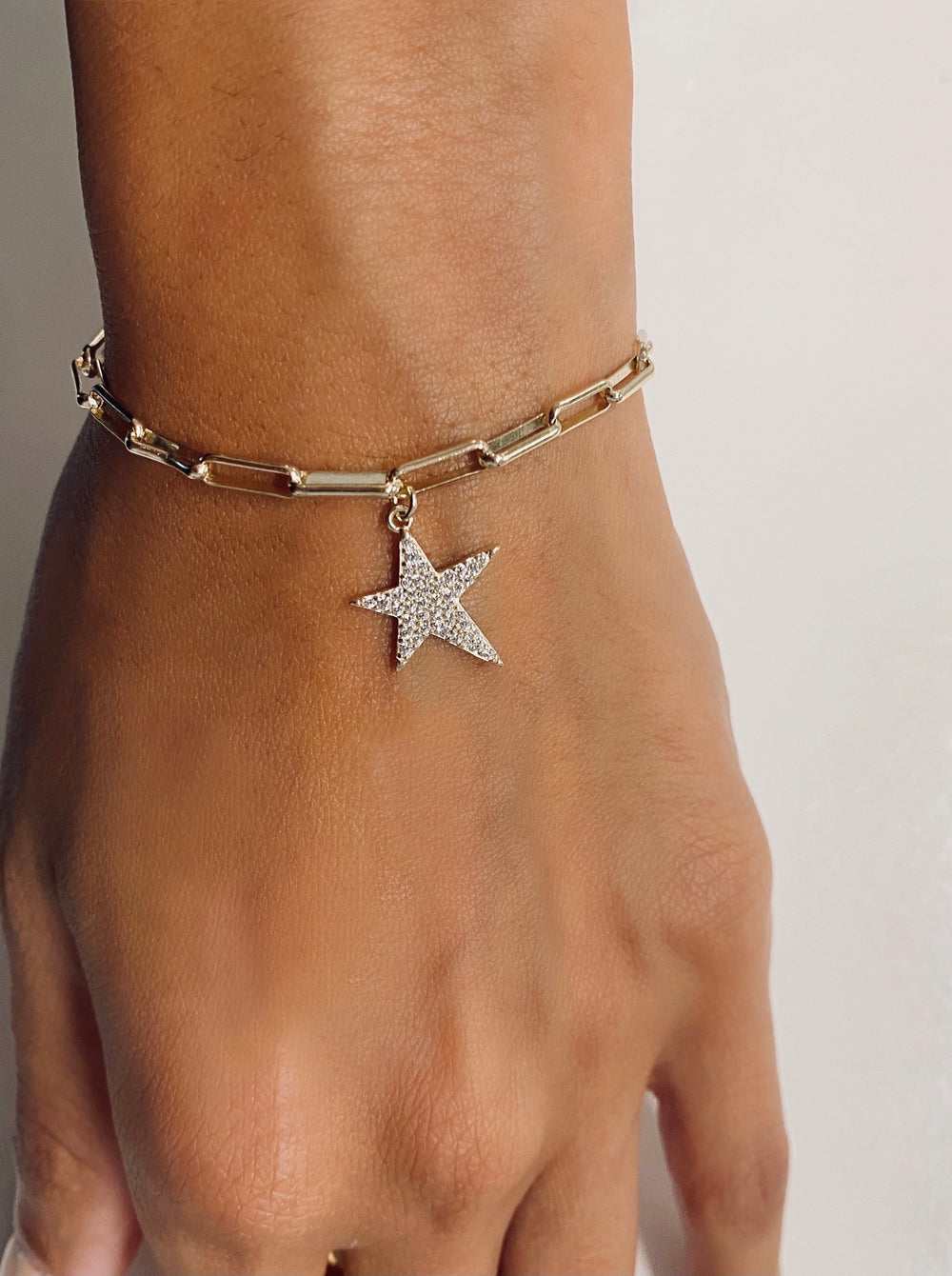THE SINGLE STAR LINK BRACELET