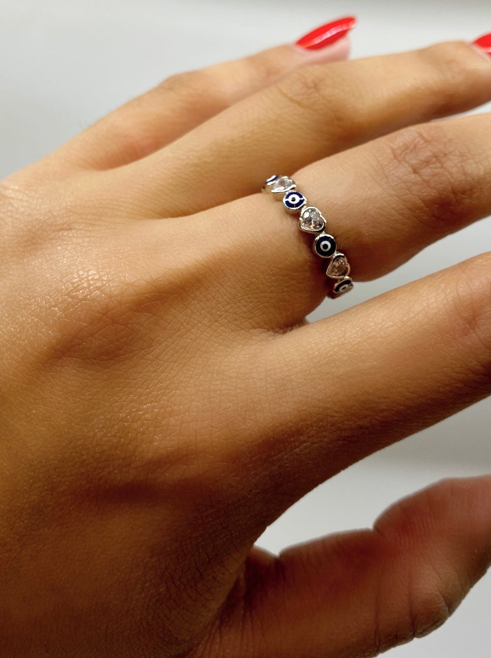 THE EVIL EYE HEART ETERNITY BAND