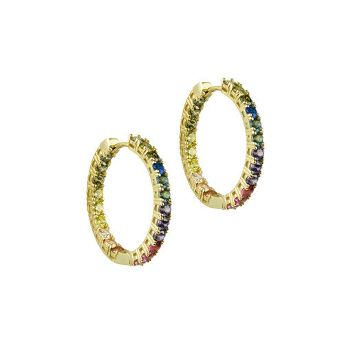 THE RAINBOW PAVE' HOOPS