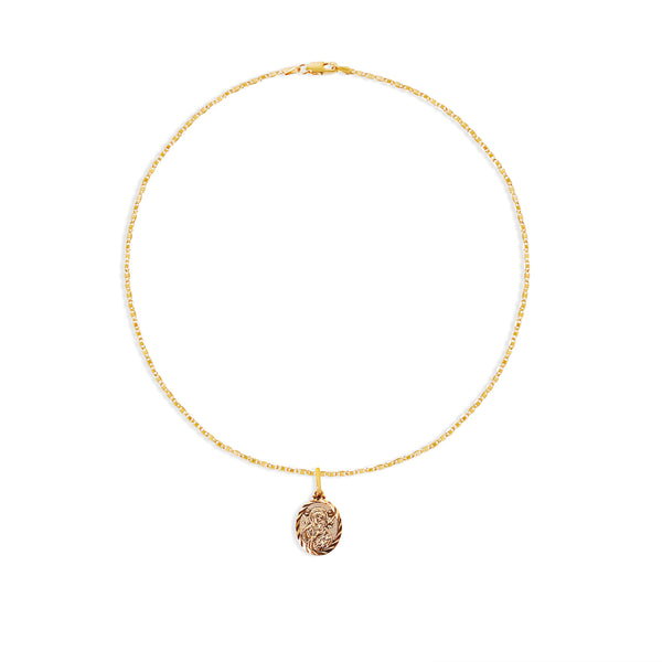 THE ATRANI MARY MEDAL NECKLACE