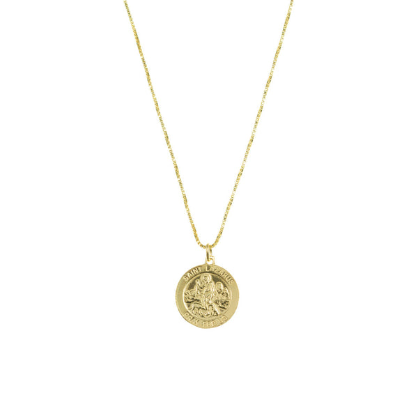 THE SAINT LAZURUS SINGLE MEDAL NECKLACE