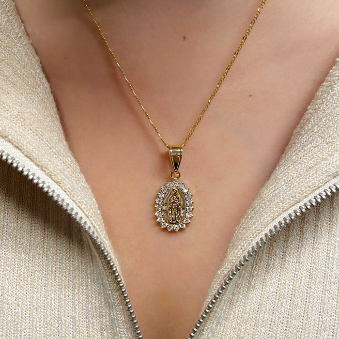 THE BEZEL FRAME GUADALUPE PENDANT NECKLACE