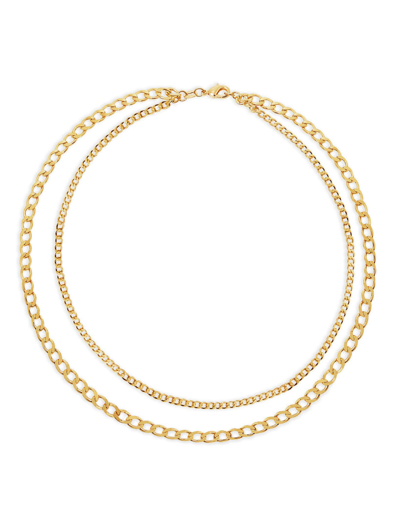 THE DOUBLE CURB CHAIN LAYERING NECKLACE (CHAPTER II BY GREG YÜNA X THE M JEWELERS)