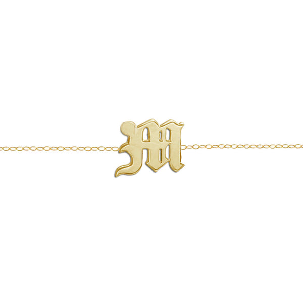 SINGLE LETTER CHOKER UPPERCASE (14KT & DIAMONDS)