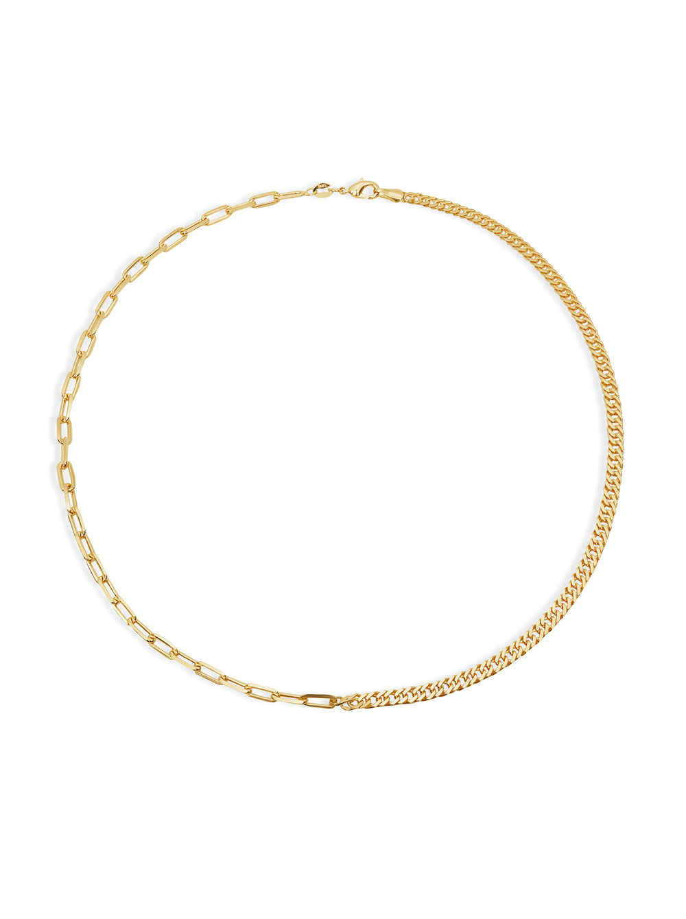 THE CUBAN REDA LINK SPLIT CHAIN NECKLACE