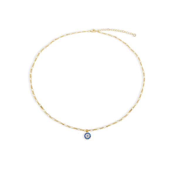 THE EVIL EYE FIGARO CHAIN NECKLACE
