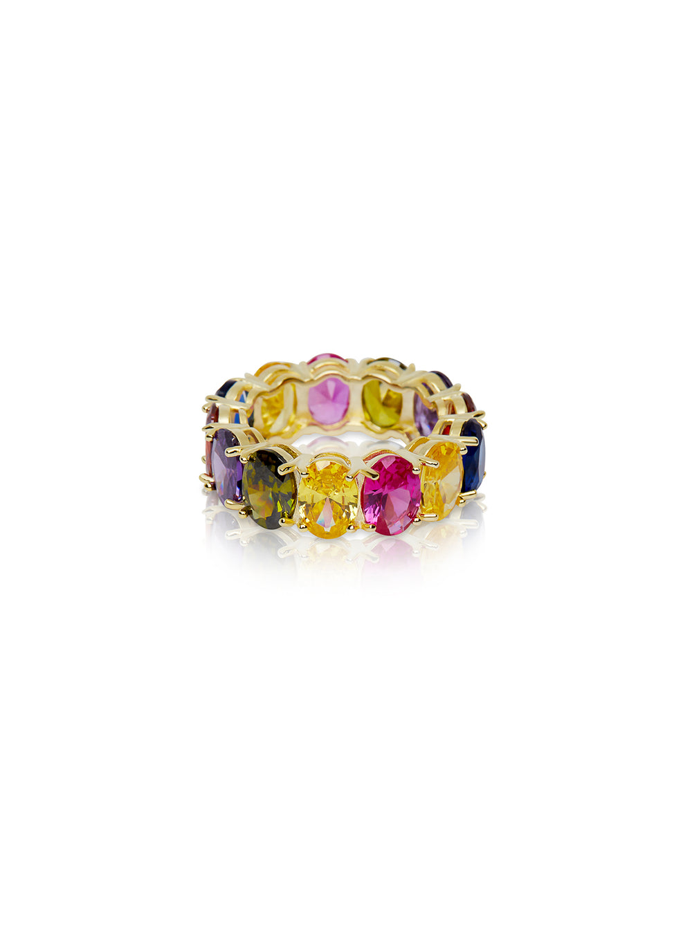 THE OVAL RAINBOW ETERNITY BAND
