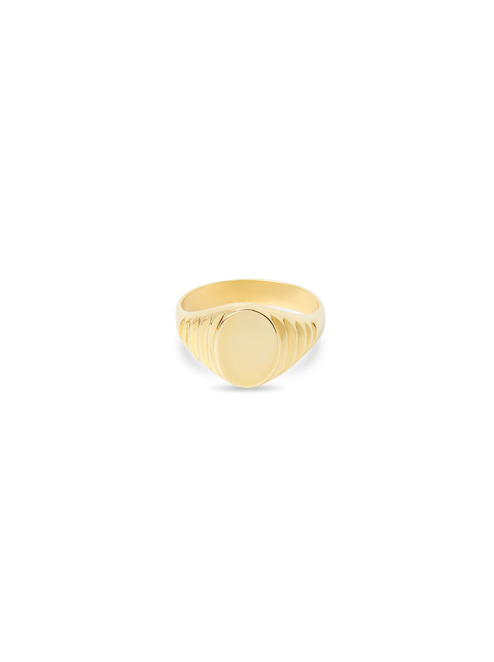 THE 10KT GOLD SIGNET RING