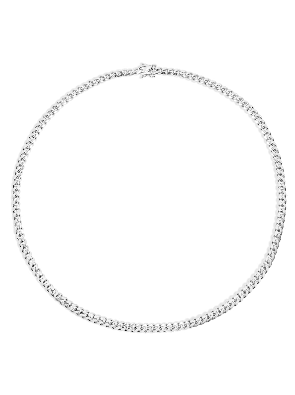 THE SILVER CUBAN LINK NECKLACE