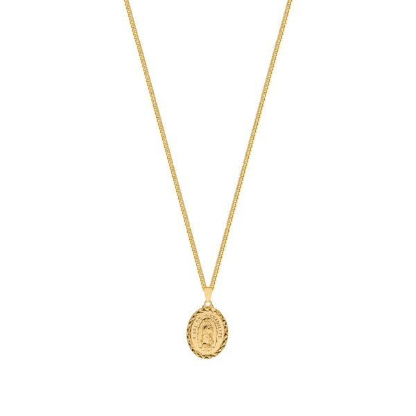THE ORNATE GUADALUPE SINGLE PENDANT NECKLACE