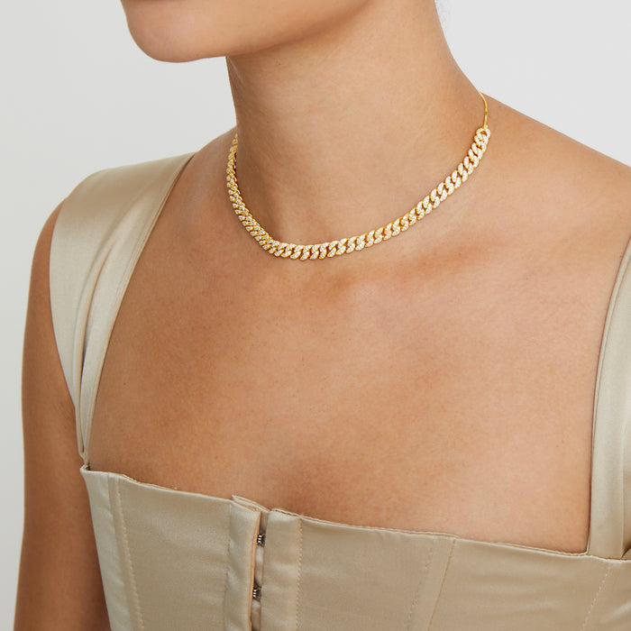 THE PAVE' CUBAN LINK CHOKER