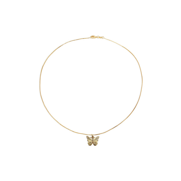 THE BUTTERFLY INITIAL PENDANT NECKLACE