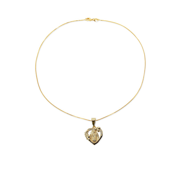 THE OPEN HEART GUADALUPE PENDANT NECKLACE