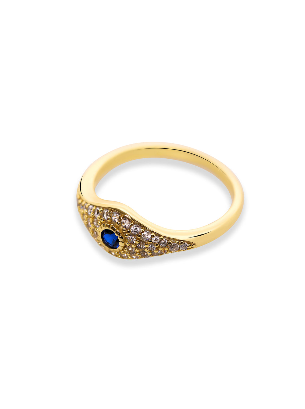 THE EVIL EYE PAVE RING