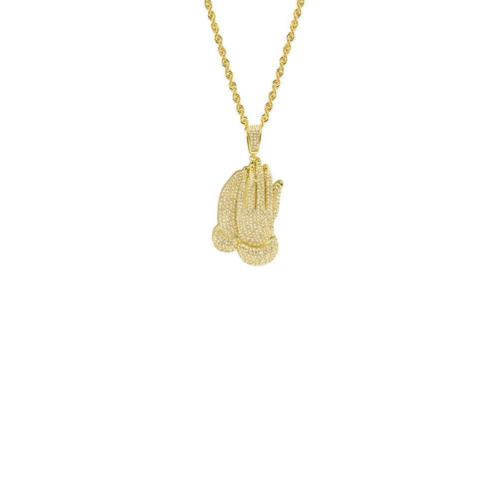 THE PRAYING HANDS PENDANT NECKLACE