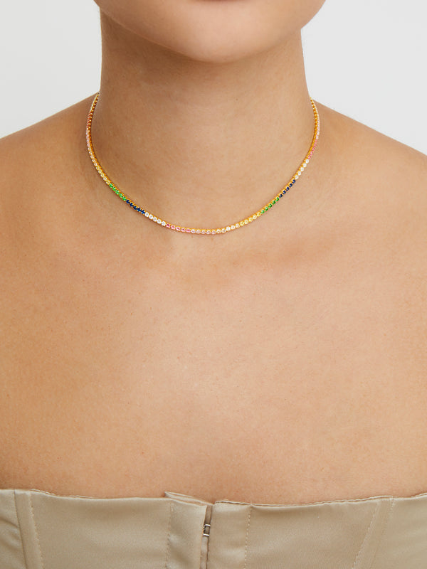 THE RAINBOW CHAIN CHOKER