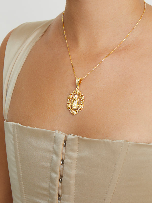 THE ROSE GUADALUPE PENDANT NECKLACE