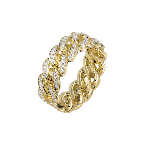 THE ICED OUT CUBAN LINK II RING