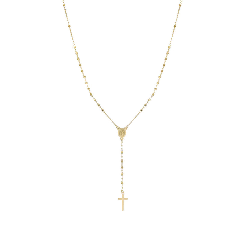 THE ROSARY DROP NECKLACE