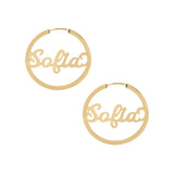 THE MINI SCRIPT NAMEPLATE HOOPS