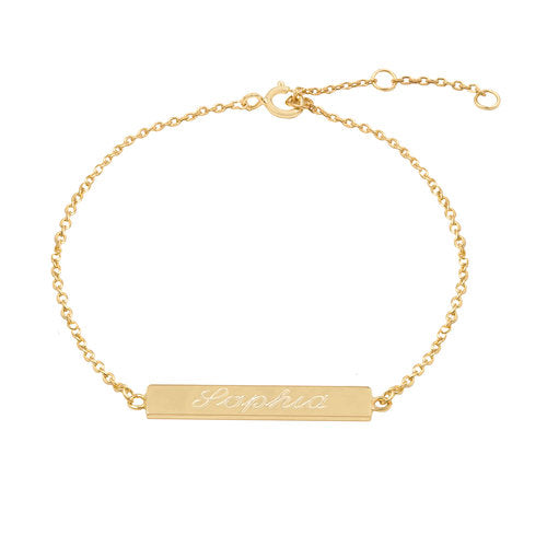 THE SCRIPT BAR BRACELET