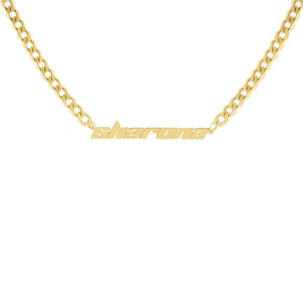 THE FRAME MINI CHOKER NAMEPLATE
