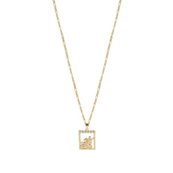 THE SAINT MICHAEL PAVE PENDANT NECKLACE