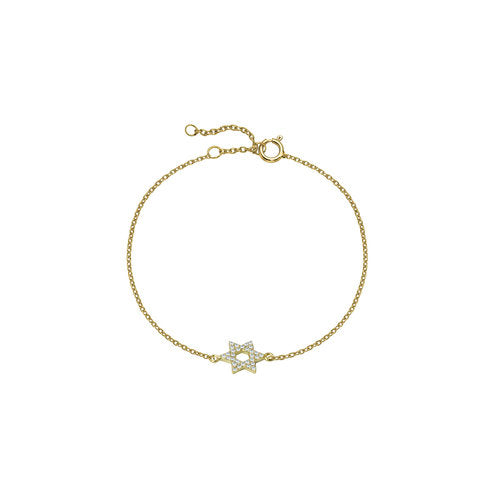 THE PAVE' STAR OF DAVID BRACELET
