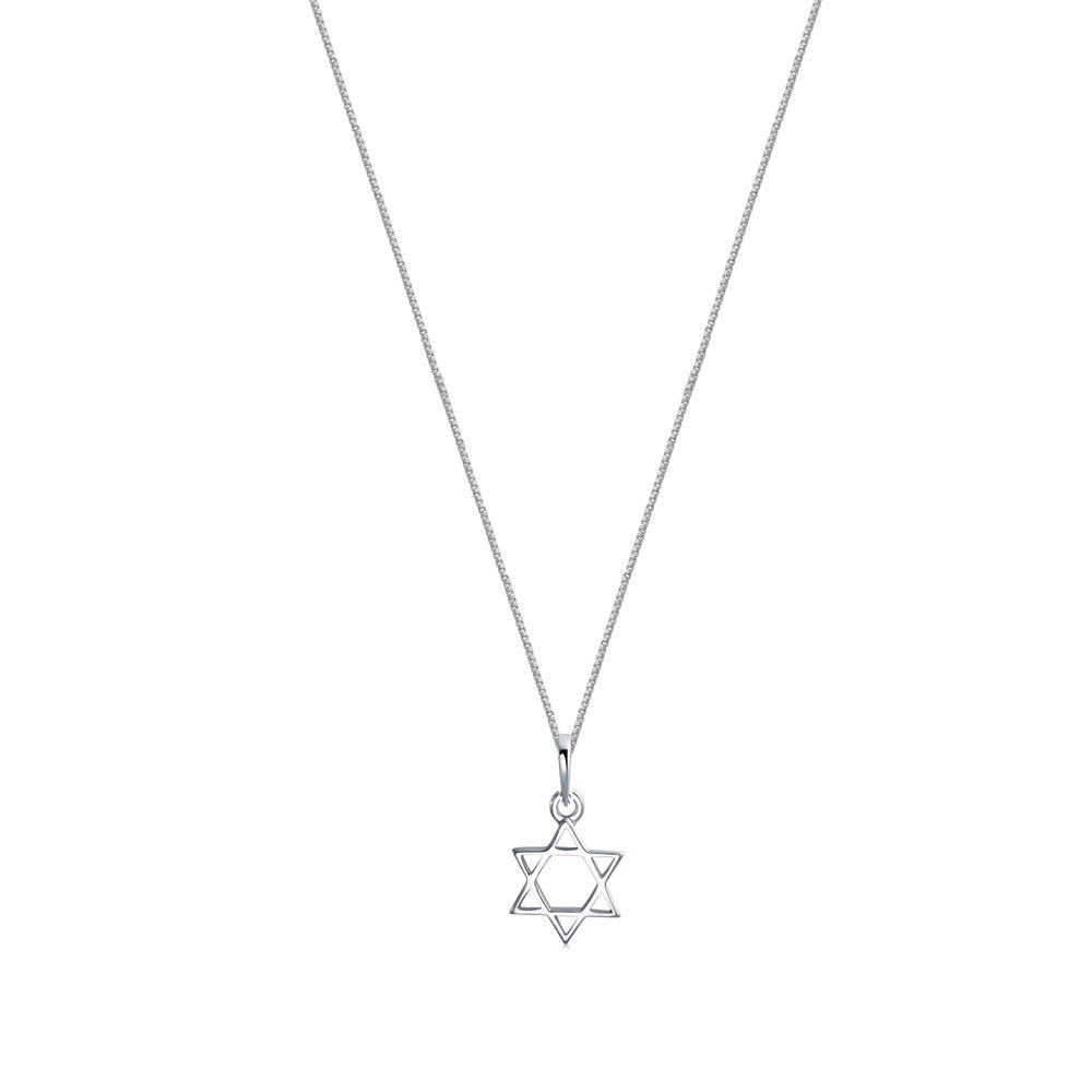 THE SILVER STAR OF DAVID PENDANT NECKLACE
