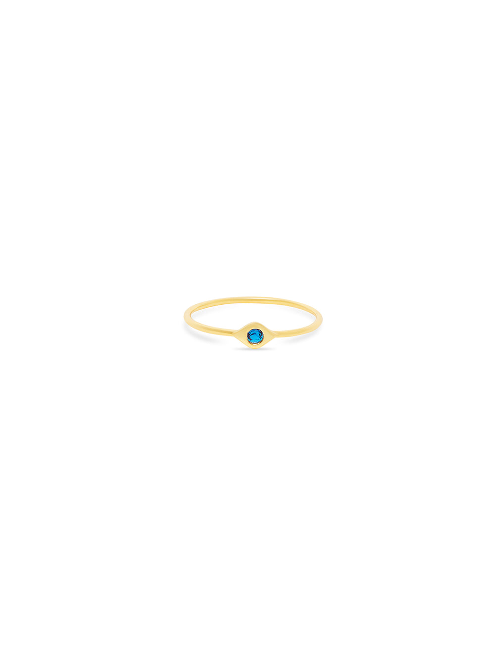 THE MINI EVIL EYE GEM STONE RING (CHAPTER II BY GREG YÜNA X THE M JEWELERS)