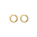 THE TRIPOLI PAVE' HOOP EARRINGS
